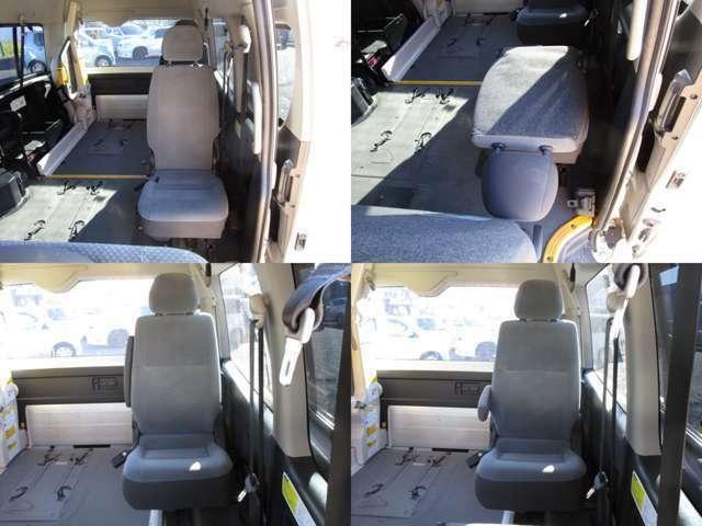 3列目のシートは跳ね上げシート(1人掛けスペースアップシート)で、4列目は1人掛けリクライニングシート(アームレスト)付です。