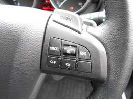 クルーズコントロールで、高速道路でのドライブが楽しくなります