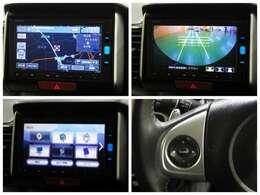 ギャザスメモリーナビ(VXM-164VFXi)を装備しております~!リンクアップフリー対応・ブルートゥース・デジタルTV、DVD/CDプレーヤー・リアワイドカメラ付きです♪