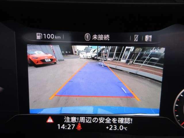 ガイド線付きバックカメラで駐車も安心ですね♪ 広角のカメラを使用しております♪ メーターパネル内に映し出され走行をサポートしてくれます♪