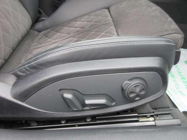 運転席、助手席ともにパワーシート機能付き♪ 簡単ボタン操作でポジション調整が可能となります♪