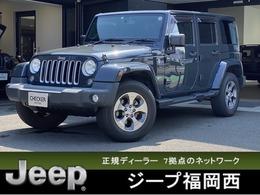 ジープ ラングラー アンリミテッド サハラ 4WD 純正ナビ レザーシート ETC ワンオーナー