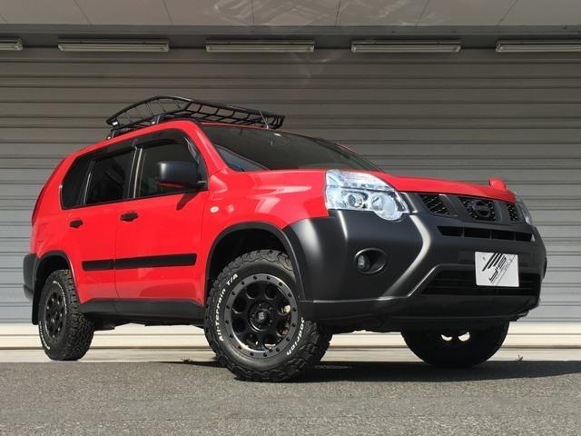 日産エクストレイル20X 4WD カスタム 約3センチリフトアップ 新品スーリーバスケット
