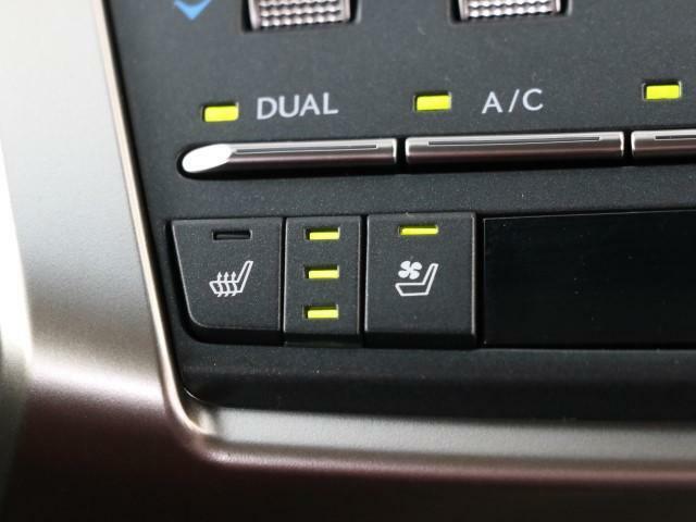 空調だけではなくシートからの冷却&温めを可能としたエアーシートが装備されてます。うれしい装備の一つです。快適にお過ごしいただけます。