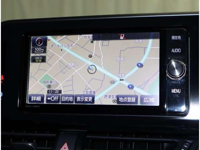 トヨタ純正SDメモリーナビ装着。フルセグ地デジの視聴、CD/DVDビデオ再生、Bluetoothでのオーディオプレーヤー接続など、AV機能も充実しています♪