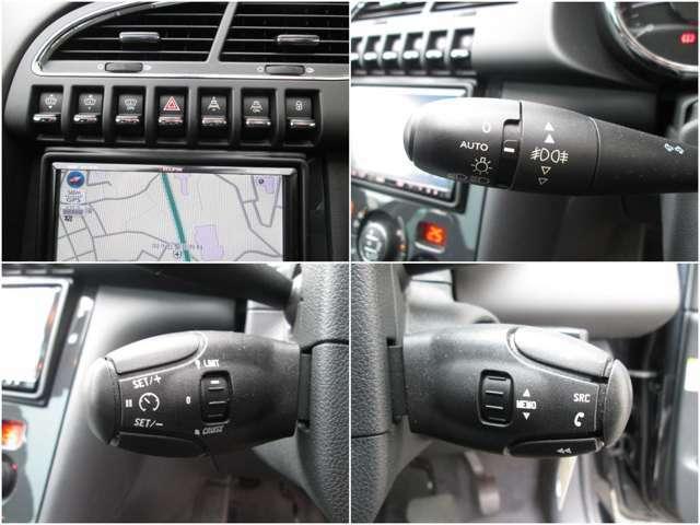 トグルスイッチがコックピット感を演出してくれます/便利なオートヘッドライト/クルーズコントロール&スピードリミッター機能付/ステアリングスイッチでオーディオの操作もOK