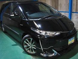 トヨタ エスティマハイブリッド 2.4 アエラス プレミアムG 4WD プリクラLDA10型SDナビ後席12.1型TVエアロ