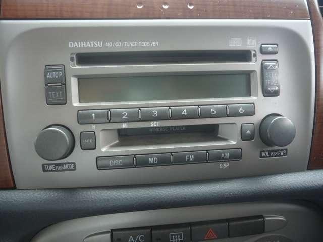 CDコンポ付きです。お気に入りの音楽も納車の日から聞けますよ。