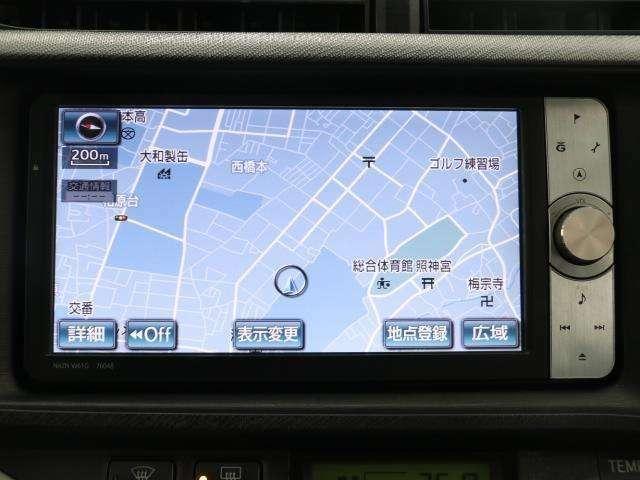 トヨタ純正の地デジフルセグ対応のHDDナビゲーション搭載。