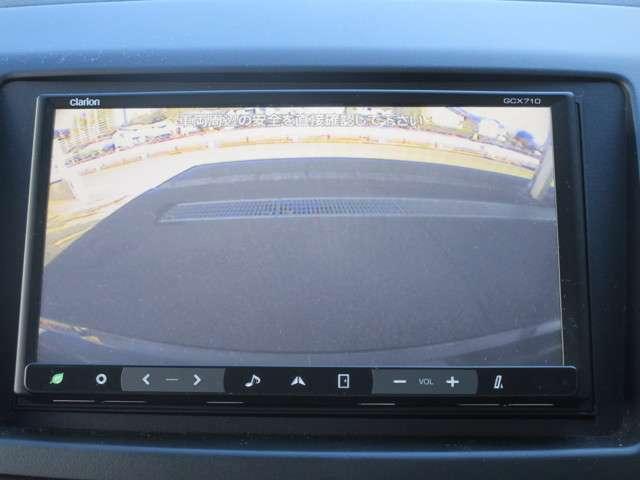 バックカメラはリバースギア連動 トランク中央にありますのでとても良い位置です