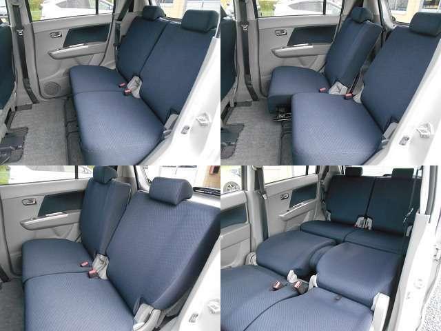 後部座席は左右独立でリクライニング・スライドが可能です。運転席を倒すことで大人の方でも足を伸ばして休憩することも出来そうです。