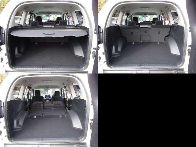 ラゲッジルーム リヤシートを左右可倒すれば、フラットで大きなスペースを確保出来ます。 トノカバー付です。