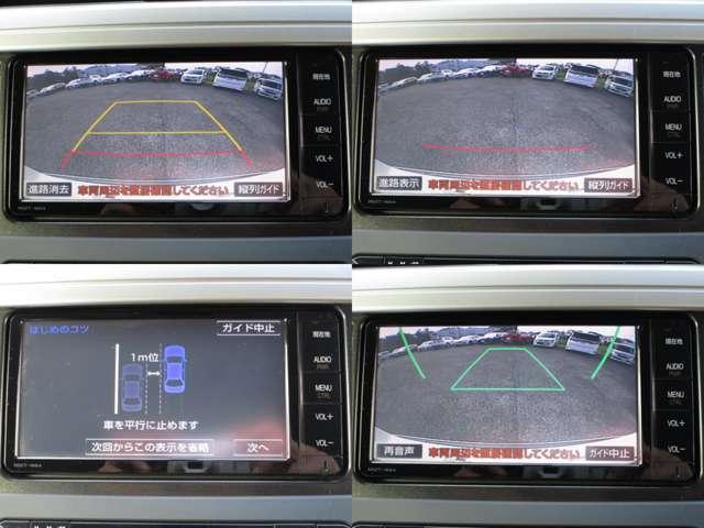 バックガイドカメラ付で、3パターンのガイド線で、ドライバーをサポートします。