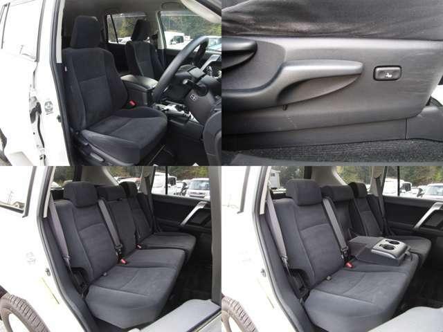フロント&リヤシート 運転席にはシートリフター(シート上下調整)機能が付いています。 リヤシートはセンターアームレスト付で、左右分割可倒式です。 シート類も問題無し