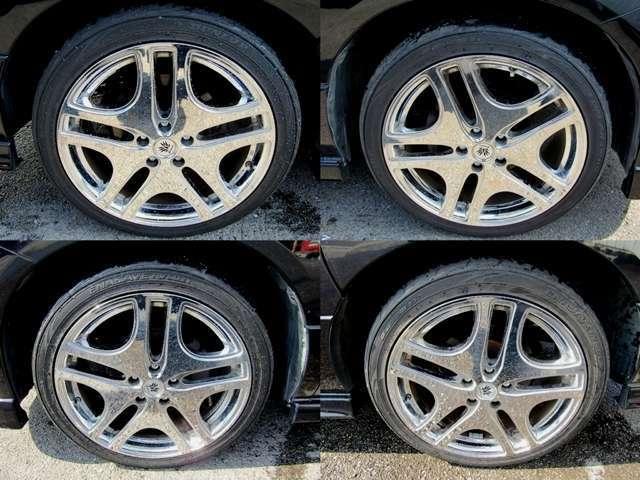 クレンツェ製メッキ19インチアルミタイヤの画像になります!!