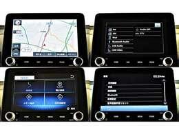 【メーカーオプション】8型スマートフォン連携ナビゲーション(Bluetoothオーディオ・ハンズフリー、USB対応・フルセグテレビ)