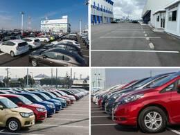 大きなNマークの看板が目印!広々とした駐車場をご用意してお待ちしております。展示場には250台以上のバリエーション豊かな在庫をご用意。メーカー問わず比較していただけます。