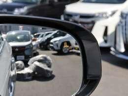 【 MOP 後側方車両検知警報システム(BSW/LCA)】後方のレーダーで後側方からの接近車両を検知!ドアミラーのインジケーターを点灯させることでお知らせしてくれます!