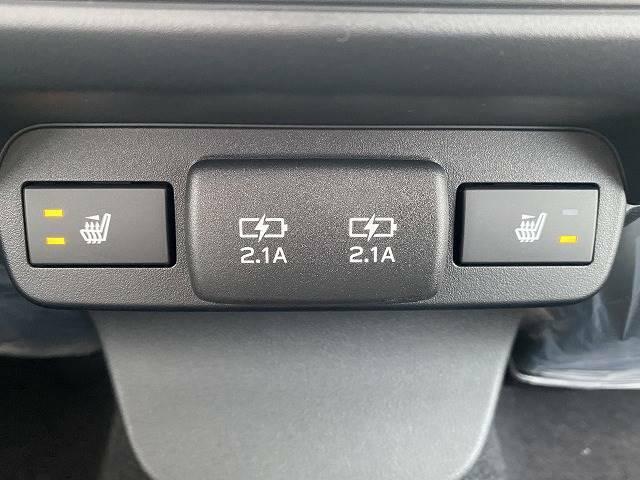 冬場にうれしいシートヒーターを装備。シート自体が温まりますので、冬場のドライブをよりお楽しみいただけますよ。