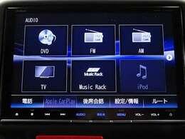 純正メモリーNAVIです。DVD/CD再生のほかにもフルセグTV、Blutooth連携機能も装備されとっても便利です!スマートフォン感覚で操作できる、次世代インターナビ♪
