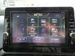 ◆日産純正ナビゲーション◆9インチの大画面だからアラウンドビューモニターも地図も大きく見えます!フルセグTV・CD再生・DVD再生・Bluetooth Audioなど様々なソースが使用できます。