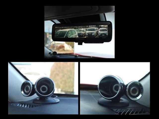 デジタルインナーミラー装着車!ダッシュボード左右にツィーター配置!車内の音のもこだわり!