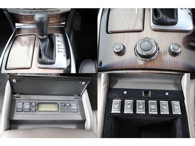 エアコンディショニングシート(ベンチレーター&シートヒーター) 後席シートヒーター リアエアコン&オーディオコントローラー