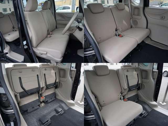 リヤシート座面は簡単に跳ね上げられる機能があります。低床を生かし、室内天井までの高さがありますので、背の高い荷物が倒さずに積み込めます。