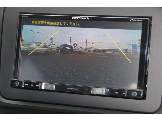 後部を確認できるフロントカメラとバックカメラ付き。安心して駐車できます。