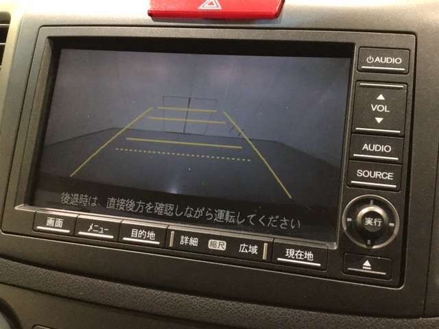 駐車や後方確認が苦手な方も安心のリアカメラ付です。