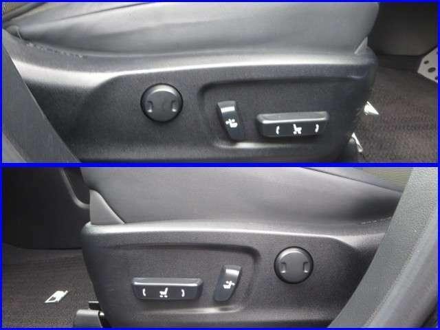 ★本革パワ-シ-ト★運転席と助手席のシ-トは電動で細かく調整出来る様になっています、身体にフィットしたドライビングポジションを設定して下さい。