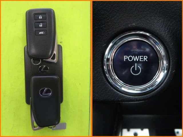 ★スマ-トキ-&エンジンプッシュスタート★キーはポケットやカバンの中のままでもドアの開閉が出来ます。そしてボタンを押すだけで楽々エンジンスタ-ト。