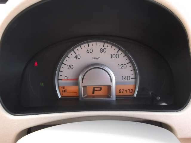 スピードメーターはこの様な仕様となっております。とても見やすくてかわいいですよね^^