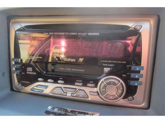 オーディオも装備されております!音楽を聴きながらドライブも楽しめます!
