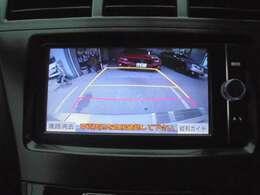 ★ガイドライン機能付きのリヤカメラが装備されておりますので、高速道路等。