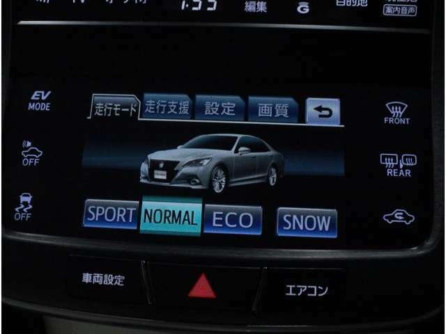 【エコモード・パワーモード】市街地走行や高速走行中にスイッチを切り替えると燃費の向上に役立ちます。
