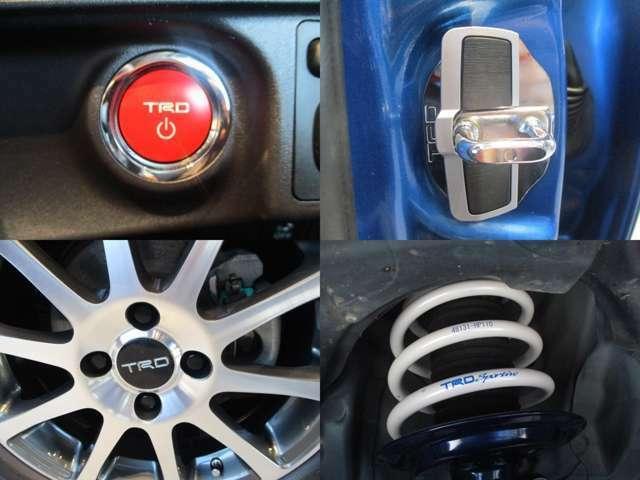 【TRD】プッシュスタートスイッチラー・ドアスタビライザー・16インチアルミホイールター・サスペンションセット