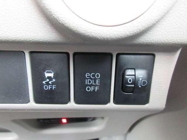 横滑り防止機能/アイドリングストップ/光軸ダイヤルで走行をサポートします☆