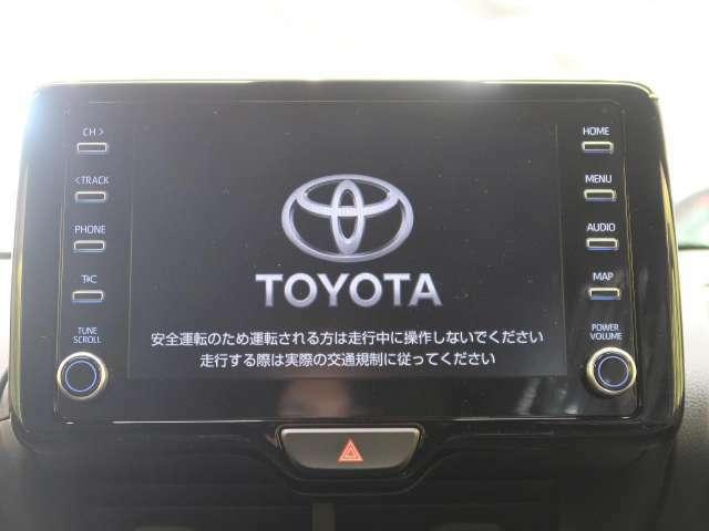 【8型ディスプレイオーディオ】Bluetooth・Miracast対応です。オーディオ機能とスマホ連携機能を搭載。T-Connectナビキット、エントリーナビキットを装着すれば車載ナビとしての活用も!