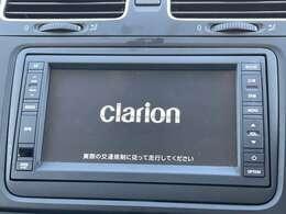 クラリオン製ナビ付きで知らない土地のドライブも安心!CD、TVも楽しめます♪