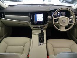 弊社デモカーアップ車両のV90がD4モメンタムが入庫いたしました!大人気ディーゼルエンジンで高いランニングコストと高トルクのハイパフォーマンス♪ボルボフラッグシップモデルの高級感をお楽しみください!