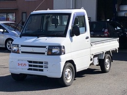 三菱 ミニキャブトラック 660 JAスーパーカスタム 4WD 5速MT エアコン パワステ 車検受渡し