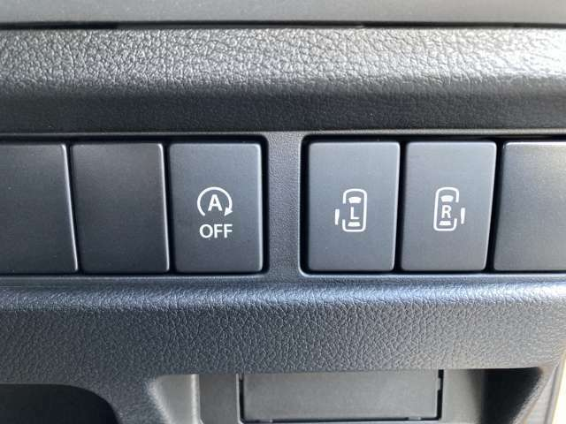 【アイドリングストップ】【両側電動スライドドア】駐車場で両手に荷物を抱えている時でもボタンを押せば自動で開いてくれますので、ご家族でのお買い物にもとっても便利な人気装備