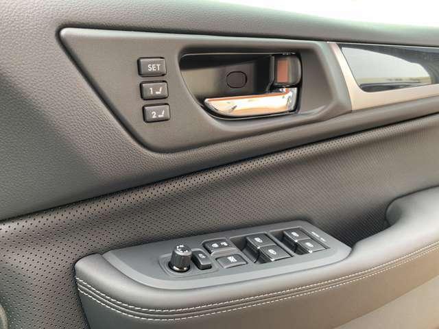 運転席シートポジションメモリー機能★4名分まで記憶可能!