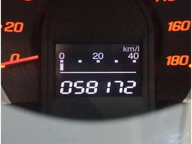 走行距離は58200KMです。