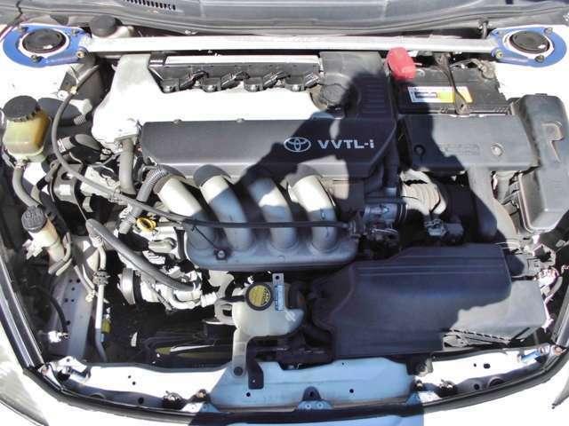 ☆トヨタの名機、4AG後継のヤマハ製2ZZエンジン!タイミングチェーン方式採用で、交換不要です♪