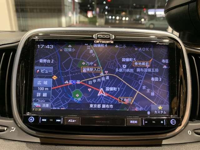 カロッツェリアメモリーナビ搭載!Bluetooth接続でハンズフリー通話も可能です!