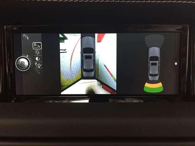 バックカメラは、360°は勿論ですがカメラ切り替えもできます。