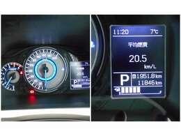 自発光式のメーターで見やすいです!現在の走行距離は11,846kmと少なめです!