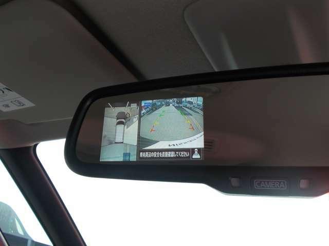 車を上空から見下ろしているかのような映像をカメラに映し出し、周囲の状況がひと目でわかります。